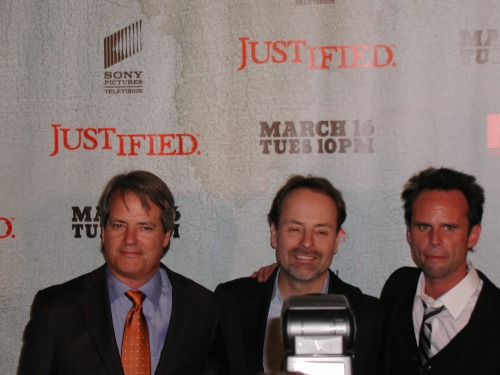 Graham Yost, Walton Goggins FX Justified premiere